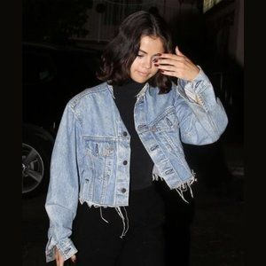 Nasty Gal After Party Cropped Levi's Denim Jacket